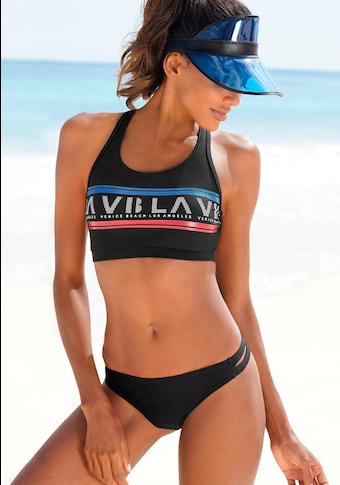 Venice Beach Bustier-Bikini, Mit Logodruck