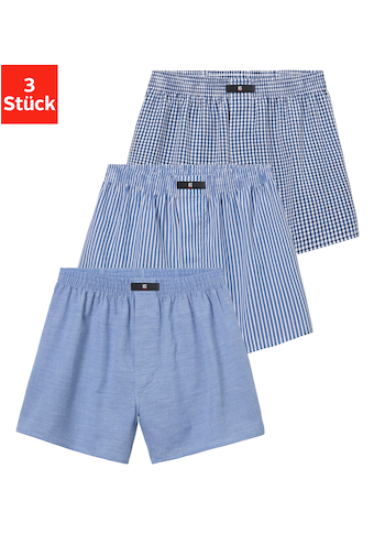 H.I.S Webboxer, (3 St.), aus gewebter Hemden-Qualität