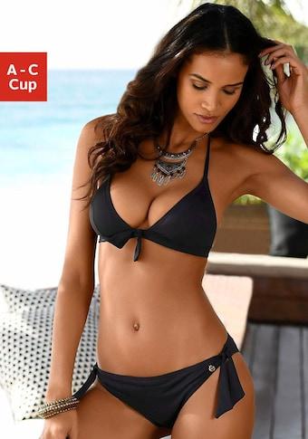 LASCANA Triangel-Bikini-Top »Lola«, mit Zierschleife und Push-Up-Effekt