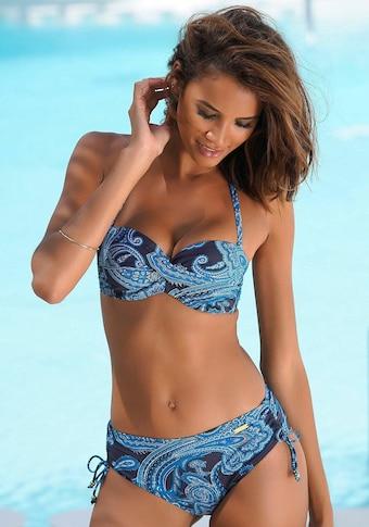 LASCANA Bügel-Bandeau-Bikini-Top »Boho«, mit Paisleymuster