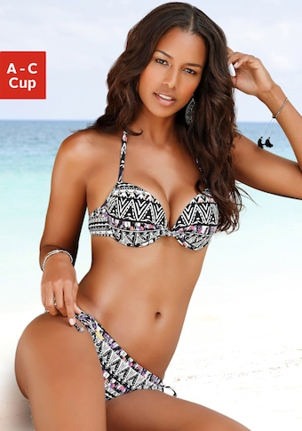 LASCANA Push-Up-Bikini-Top »Belize«, mit integrierter Verstärkung