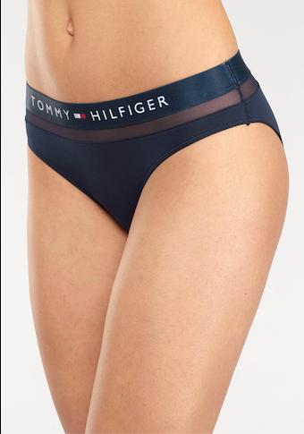 TOMMY HILFIGER Bikinislip, mit leicht transparentem Mesheinsatz