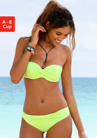s.Oliver Beachwear Bandeau-Bikini-Top »Spain«, unifarben mit Wickeloptik