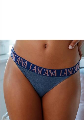 LASCANA ACTIVE String, mit breitem Logogummi